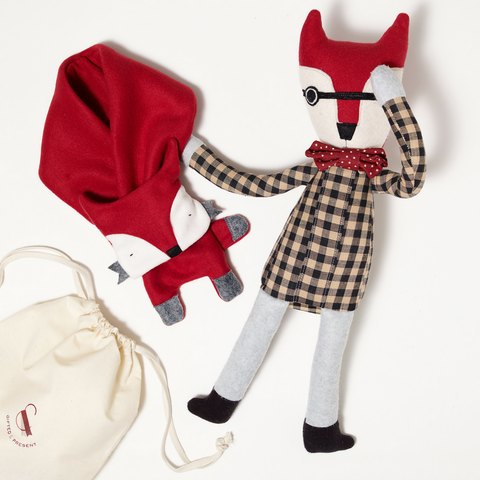 Handmade Fox Scarf & Doll Gift Set