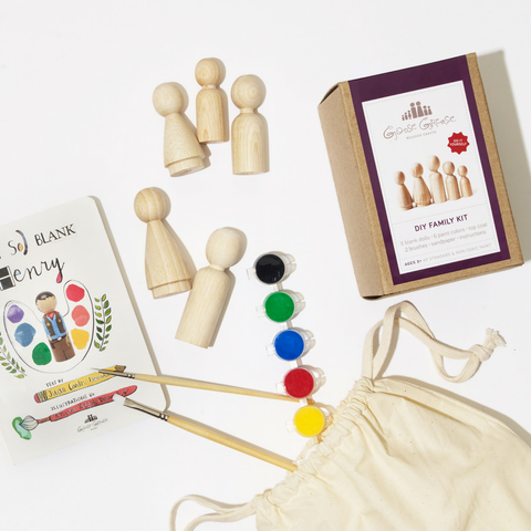 DIY Peg Doll & Book Gift Set
