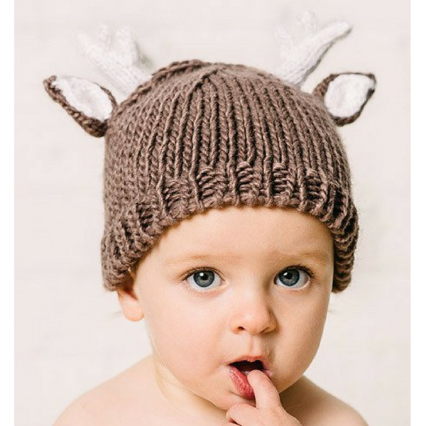 Knitted Reindeer Hat