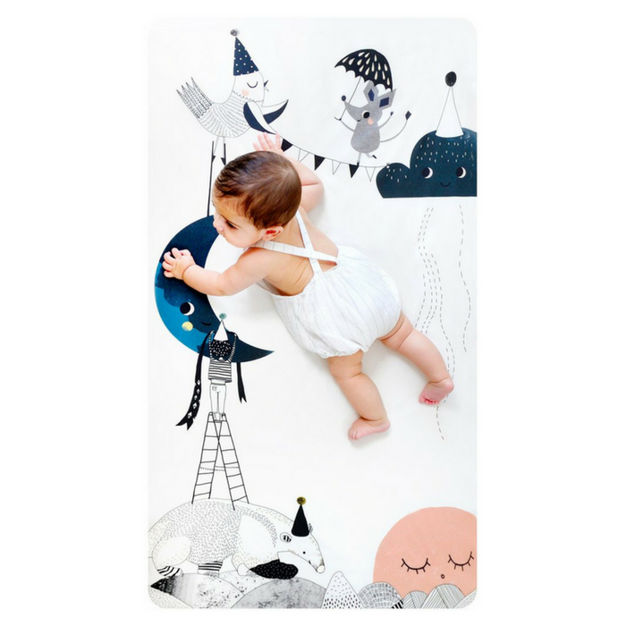 Fitted Crib Sheet - The Moon's Birthday - Gifted and Present