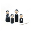 Wooden Peg Dolls/The Chalk People - Gifted and Present