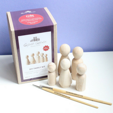 DIY Wooden Peg Dolls - Gifted and Present