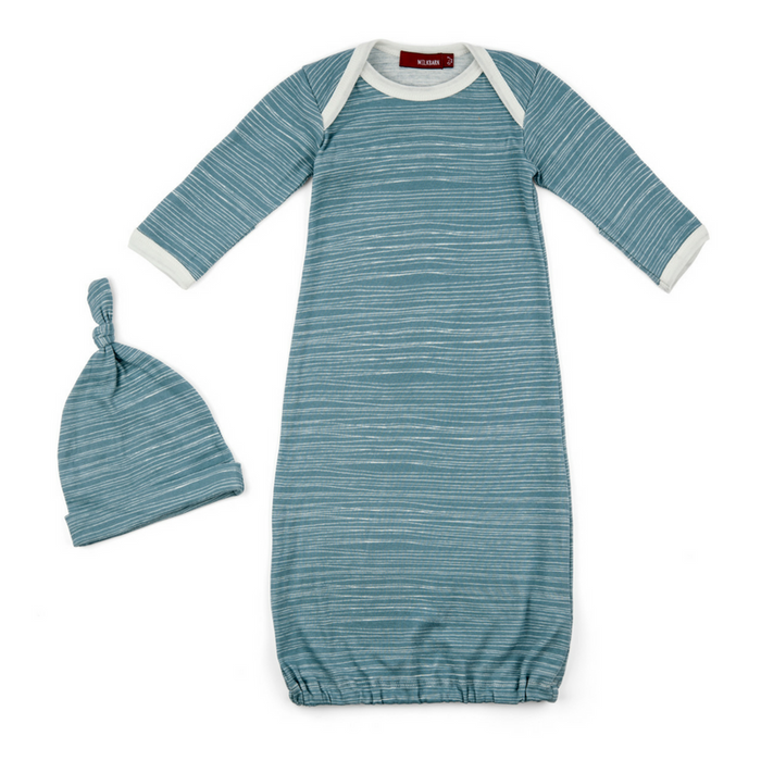 Organic Cotton Gown & Hat Set - Gifted and Present