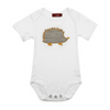 Organic Cotton Hedgehog One-Piece/Grey - Gifted and Present