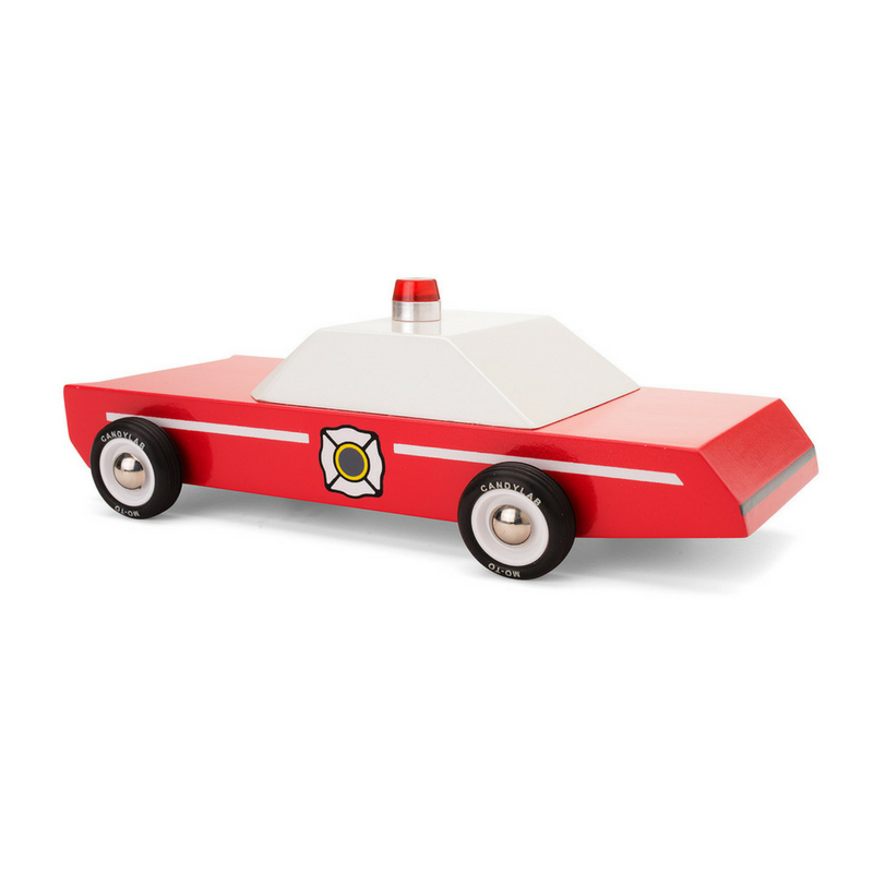 Wooden Toy Car - Fire Chief - Gifted and Present
