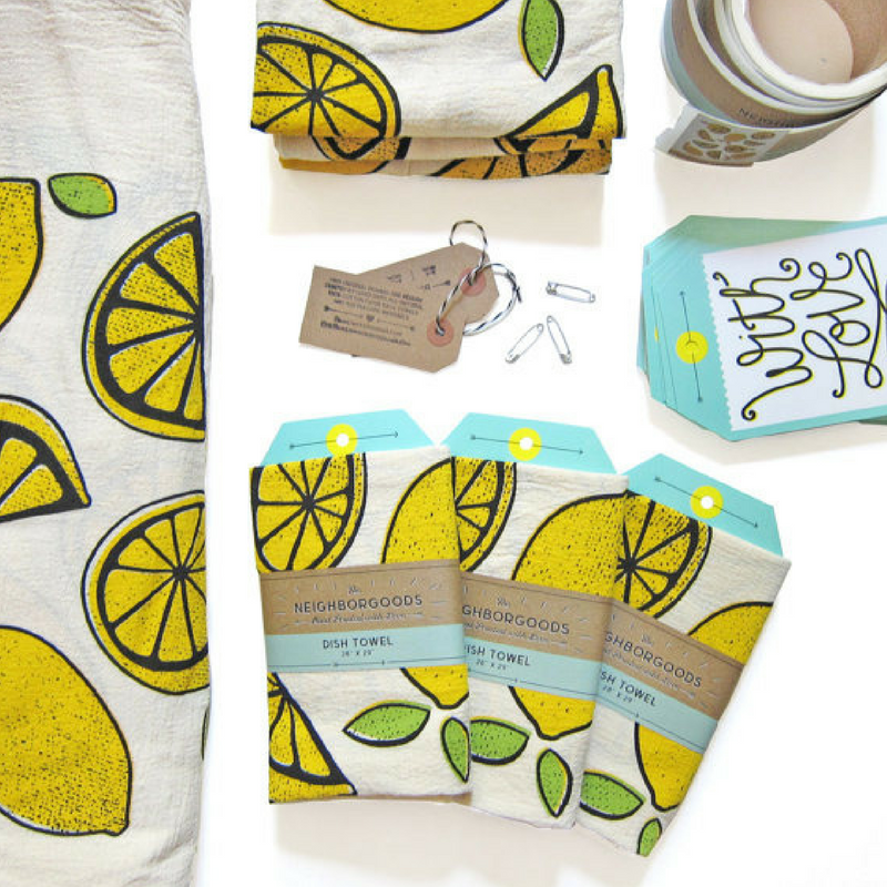 Yellow Lemon Tea Towel - Gifted and Present