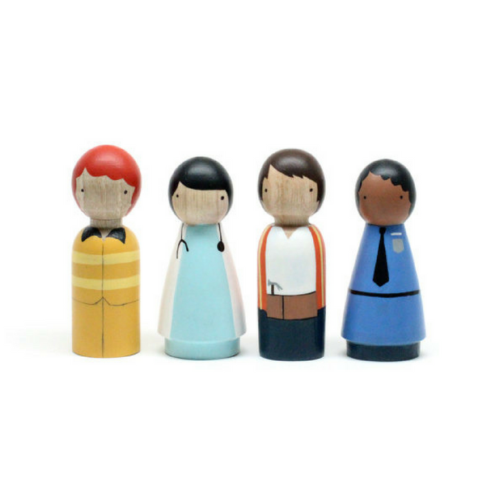Wooden Peg Dolls/The Community Helpers - Gifted and Present