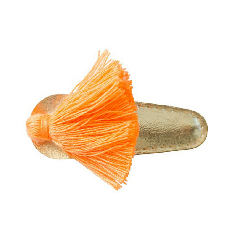Tassel Hair Clip - Orange/Gold - Gifted and Present