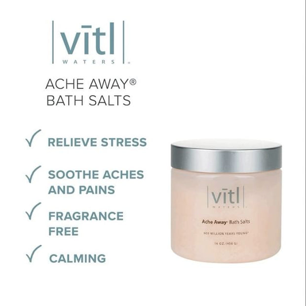 Vītl Waters® Ache Away® Bath Salts - Vitl Waters
