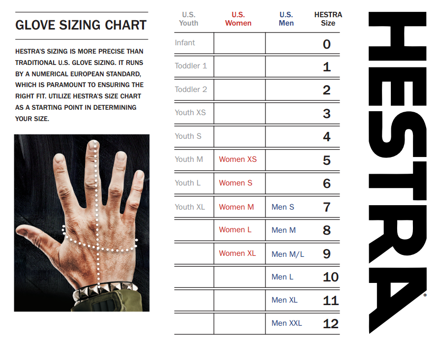 Hestra gloves size chart outdoor equipped