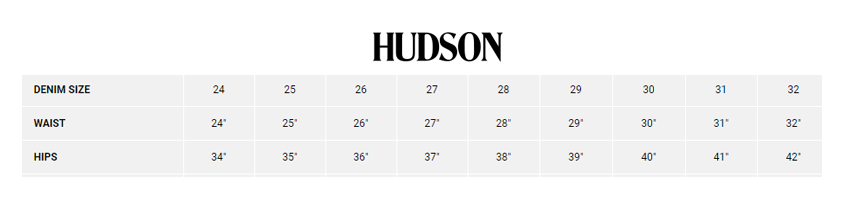 Hudson jeans size chart outdoor equipped