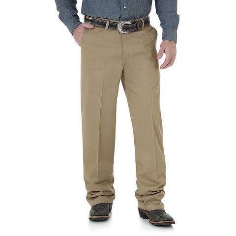 Wrangler Riata® Flat Front Relaxed Casual Pant - Goldenrod