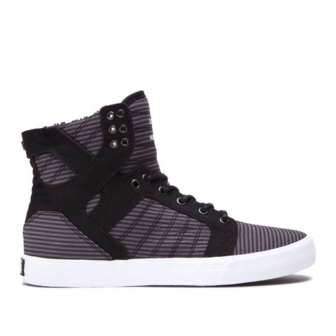 Supra Men's Skytop Sneakers Black / Grey - White