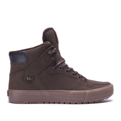 Supra Men's Vaider Cold Weather Sneakers Demitasse - Dark Gum