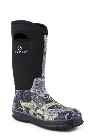 Roper Ladies Barnyard Paisley Boot