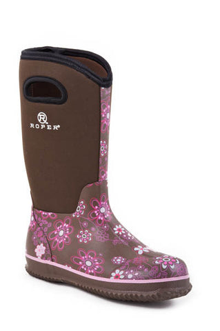Roper Ladies Barnyard Floral Boot