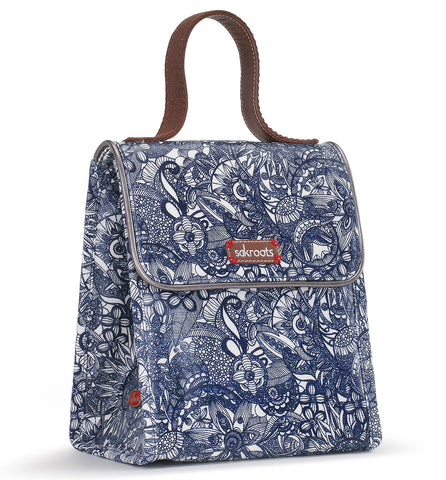 Sakroots Women's Artist Circle Flap Lunch Bag Navy Spirit Desert