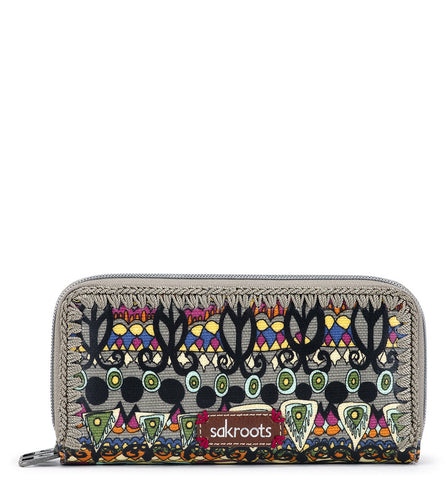 Sakroots Women's Artist Circle Double Zip Wallet