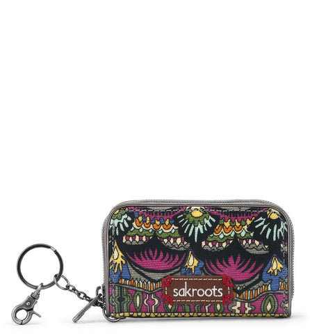 Sakroots Women's Artist Circle Zip ID Case