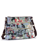 Sakroots Women's Artist Circle Basic Crossbody Sky Blue Flower Power