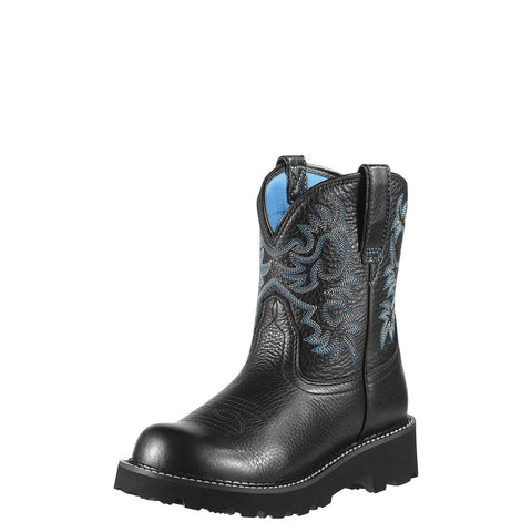 Ariat Women's Fatbaby Original Boot Black Deertan