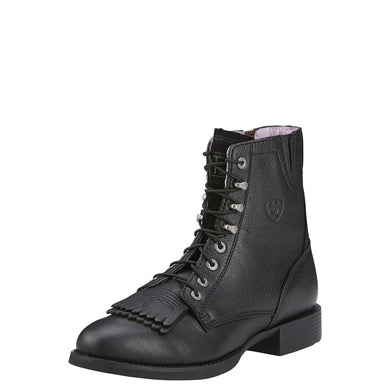 Ariat Women's Heritage Lacer II Boot Black Deertan
