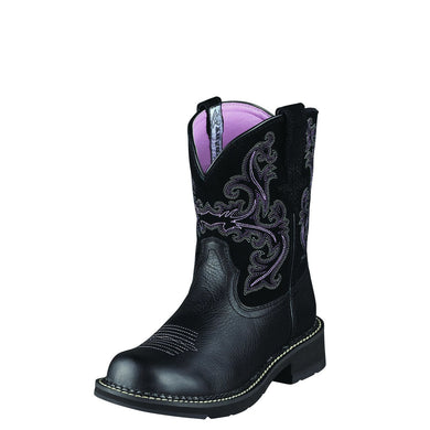 Ariat Women's Fatbaby II Boot Black Deertan