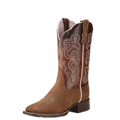 Ariat Women's Quickdraw Boot Badlands Brown