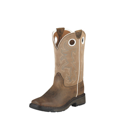 Ariat Kid's Workhog Tall Boot Distressed Brown