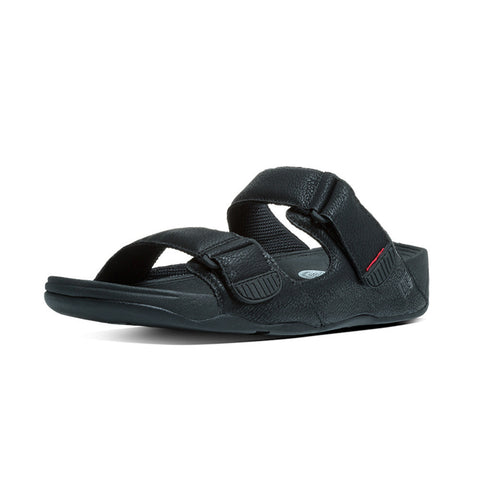 Fitflop Men's Gogh™ Moc Adjustable Nubuck Slide Sandals Black
