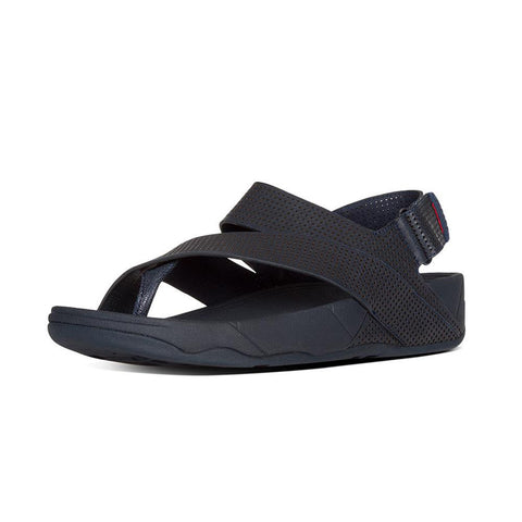 Fitflop Men's Surfer™ Perf Leather Flip Flops Midnight Navy