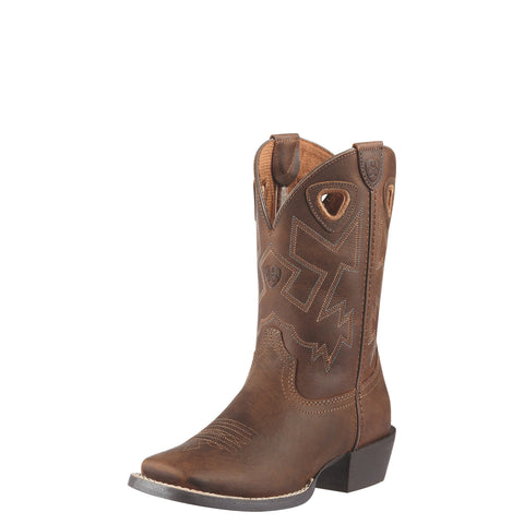 Ariat Youth Charger Boot - Brown