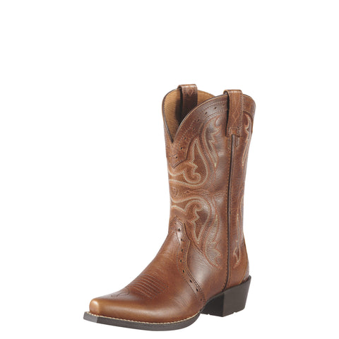 Ariat Youth Heritage Western X Toe Boot - Brown