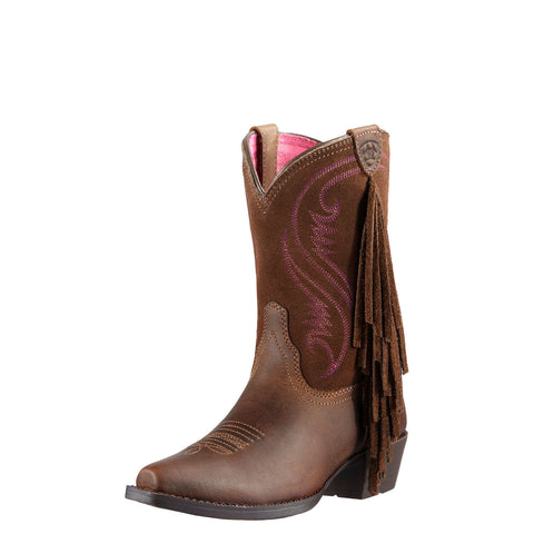 Ariat Kid's Fancy Boot Distressed Brown