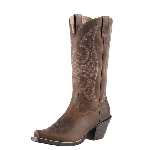 Ariat Women's Round Up D Toe Boot Distressed Brown