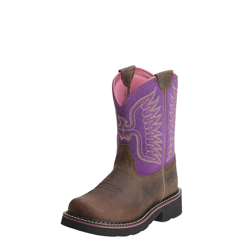 Ariat Kid's Fatbaby Thunderbird Boot Powder Brown