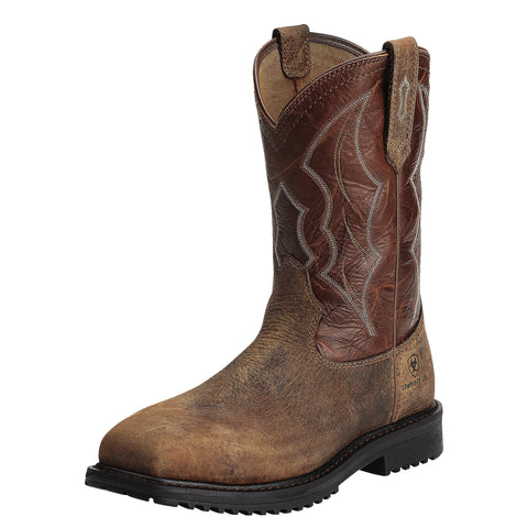 Ariat Men's RigTek™ Wide Square Toe Comp Toe Boot - Brown