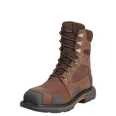 "Ariat Men's Overdrive 8"" Comp Toe Boot Chestnut Brown"
