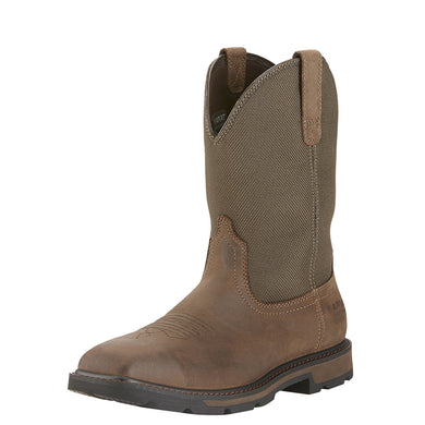 Ariat Men's Groundbreaker Sq Toe H20 St Boot Palm Brown