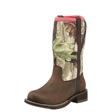Ariat Women's Fatbaby All Weather Boot Palm Brown