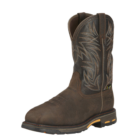 Ariat Men's WorkHog® Wide Square Toe Metguard H2O Comp Toe Boot - Brown