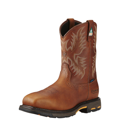 Ariat Men's WorkHog® Wide Square Toe H2O CSA  Comp Toe Boot - Brown