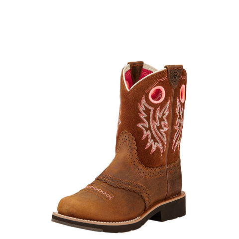 Ariat Kid's Fatbaby Cowgirl Boot Powder Brown
