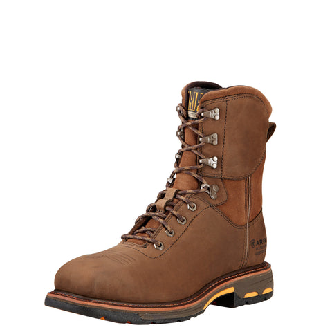 "Ariat Men's WorkHog® 8"" Wide Square Toe H2O Comp Toe Boot - Brown"