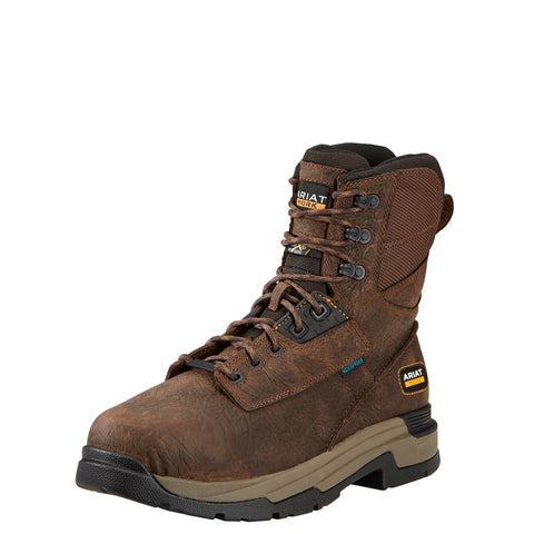 "Ariat Men's MasterGrip™ 8"" Metguard H2O Comp Toe Boot - Brown"
