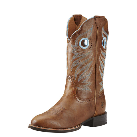 Ariat Women's Round Up Stockman Boot - Brown