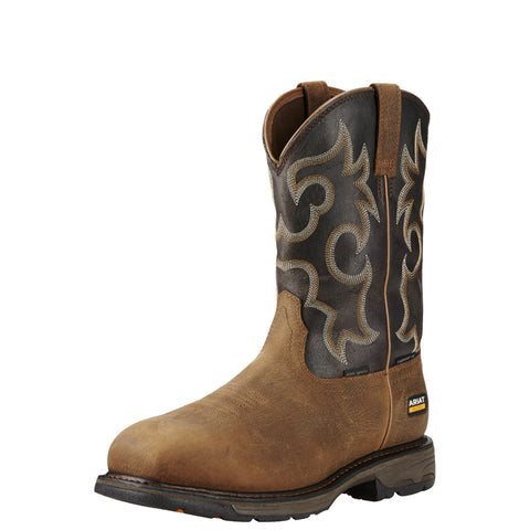 Ariat Men's WorkHog® Wide Square Toe H2O 400G Comp Toe Boot - Brown