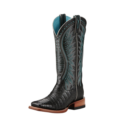 Ariat Women's Vaquera Caiman Boot - Black