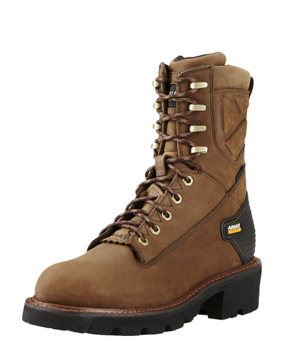 "Ariat Men's Powerline 8"" H2O Boot - Brown"