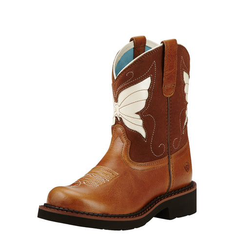 Ariat Girl's Fatbaby® Wings Boot - Brown